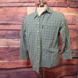Abercrombie long sleeve plaid shirt